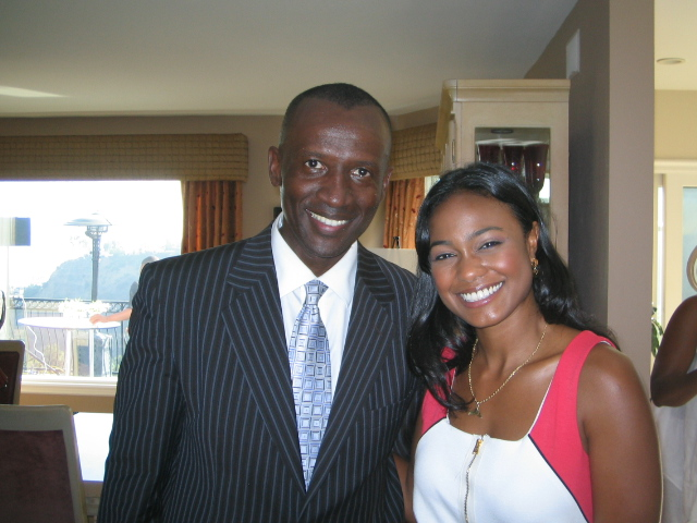 MC Walter and actress/singer Tatyana Ali at MMF event Aug 22, 2009 held at East Hollywood/Mt Olympus home of Marlene Granderson