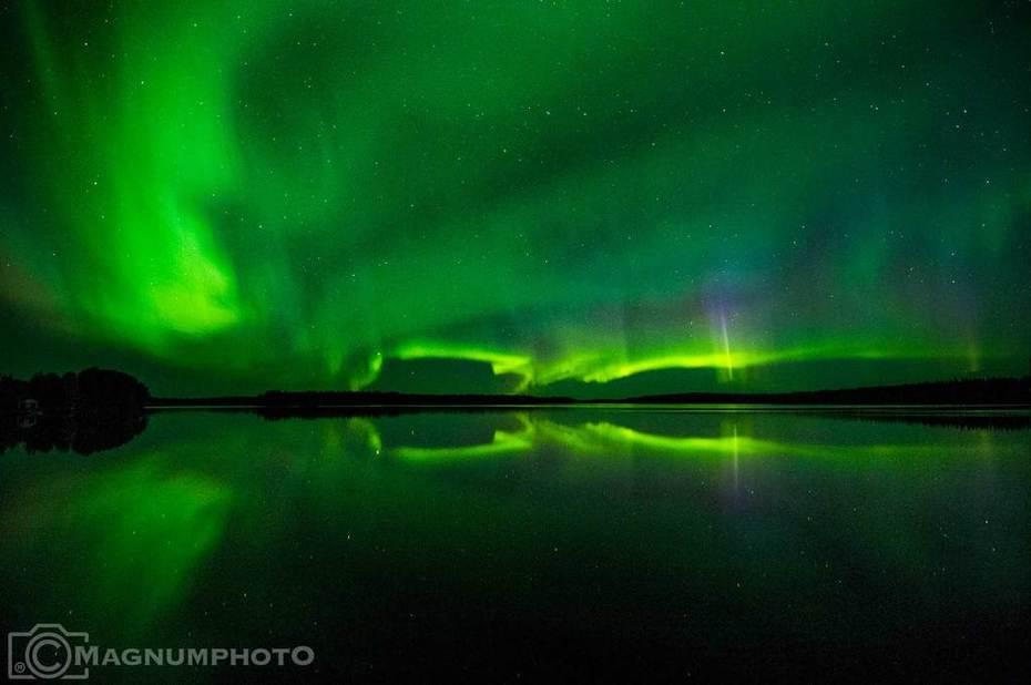 Norrsken i Moskosel den 14 sept 2018