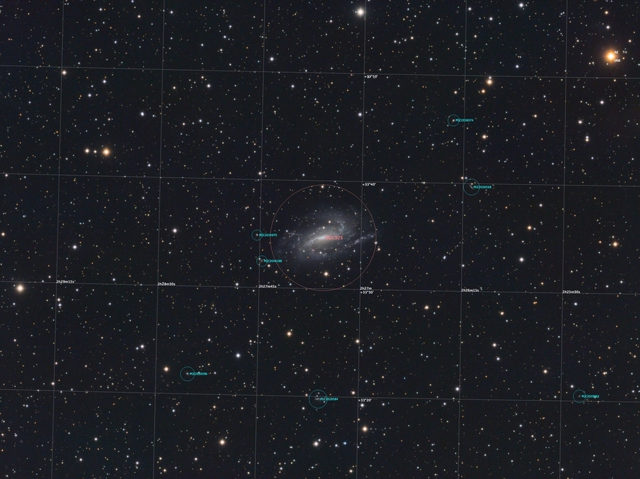 NGC925 LRGB Annoterad