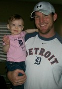 Daddy and Paige... Detroit Tigers fans