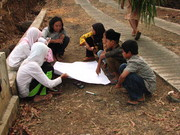 HVCA with children in rural area