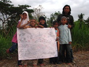 presenting mini transect, as part of HVCA with children in rural area
