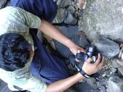 Ashok taking a Macro Shot