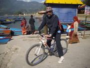 At Pehwa lake in  Pokhara in Nepal