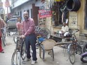 """At """"Assi Ghat road"""" in Varanasi."""