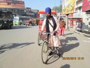 Khalsa Sikh Rickshaw driver in Amritsar.