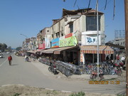 Rows of Cycle shops in Amritsar.