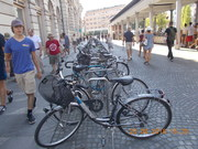 Cycle Parking lot in Ljubljana in Slovenia.