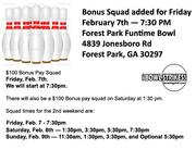 Bowling200.com Bonus Squads for Winter Tournament
