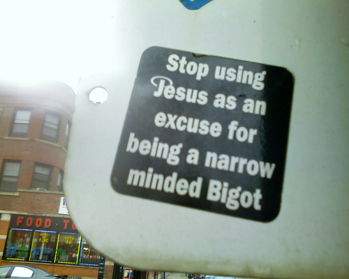 excuse for being a bigot