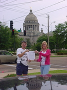 Ellen Johnson and myself with Bill Moore's letter in Jackson, Ms