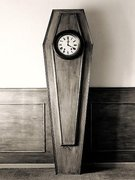 grandfather coffin clock