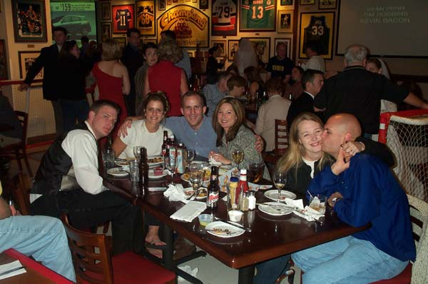 35 - Family and friends at the post party  10-11-03