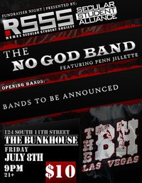 I'm performing with Penn Jillette and the NoGodBand