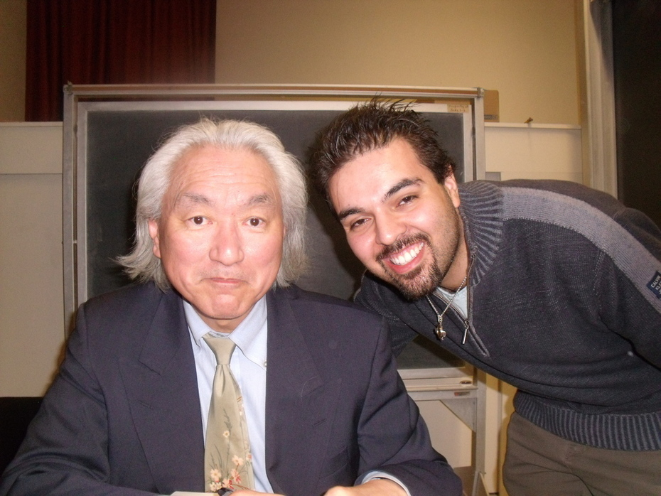 Taking a picture with the great Dr. Michio Kaku
