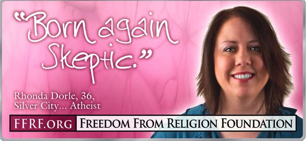 """My FFRF """"Out of the Closet"""" billboard in Tulsa Ok."""