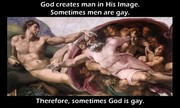 So thats why hes quick to judge gays...hes in the closet!