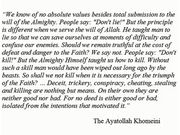 Ayatollah Khomeni on Morality and Means