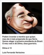 Luis Fernando Veríssimo com Dilma