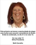 Beth Carvalho com Dilma