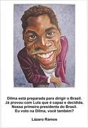 Lázaro ramos com Dilma