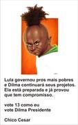 Chico Cesar com Dilma