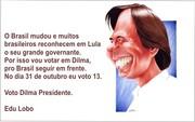 Edu Lobo com Dilma
