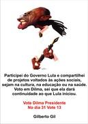 GILBERTO GIL vota Dilma