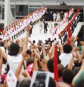 Lula a caminho do povo.