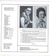 Contra Capa do LP Sons da Terra do Sol - D'Alva Stella e Nízia Diogo Maia