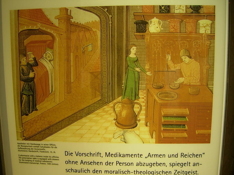 Medieval Pharmacy and Administration of Medicine