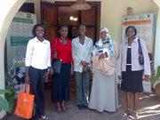 ToT's Damaris Muteti,Esther Ndun'gu,Rose Oduho Amina Maow and Snigther Onyango at ACWICT Secretariat