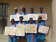 SECOND FORM STUDENTS FROM SENEGAL,WEST AFRICA DISCOVERING AND ENJOYING THEIR 2012 PARTNERS' PIECES OF ART
