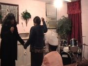 Ministering to a young lady at a revival in Monroe, Louisiana
