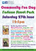 Flyer for this years community Fun Day