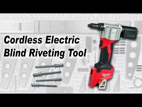 Aircraft Riveting: Cordless Electric Blind Riveting Tool