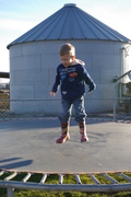 In his boots at the dairy