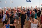 RD-fiesta en la playa, Río Paraná