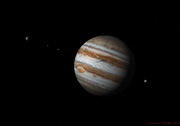 Jupiter and 4 of its moons