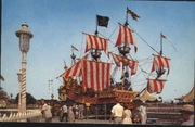 Fantasyland Pirate Ship about 1955