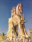 Trojan Horse fr. the film Helen of Troy