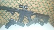 My set up (guns)