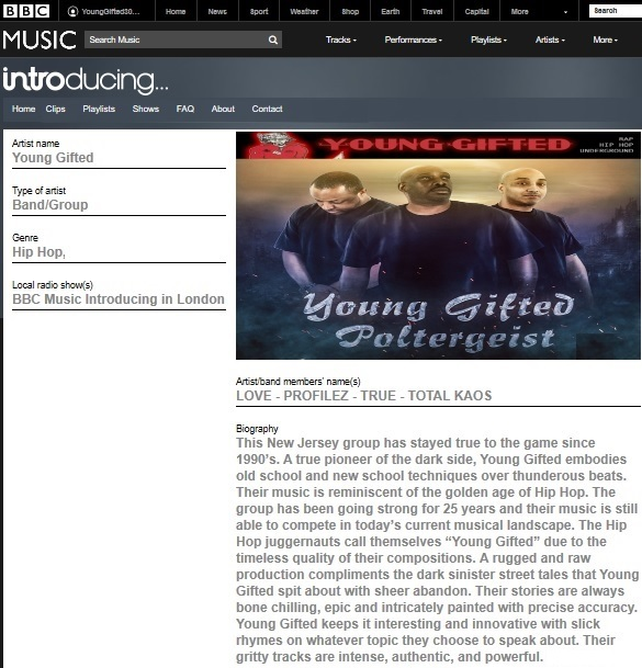 LONDON STAND UP_BBC MUSIC_POLTERGEIST BY YOUNG GIFTED