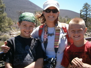 Sammy, Holly and Jack at Sunset Crater NM