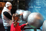 Family with Exploring the New Exhibits