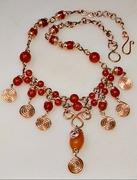 Carnelian & Copper Necklace