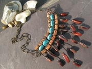 Turquoise and Tigers Eye Spikes