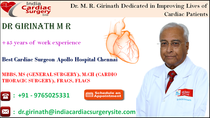 Dr. M. R. Girinath Dedicated in Improving Lives of Cardiac Patients