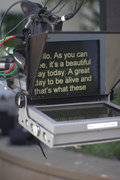 Teleprompter work