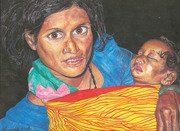 Indian Woman and Baby